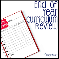 end of year curriculum review printable as each shool year ends i m always faced the decision of what curriculum