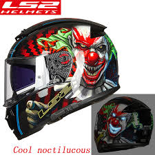 <b>LS2 FF390 original full</b> face Motocycle helmet KPA Breaker Chrome ...