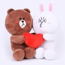 <b>1 Pair</b> kawaii <b>Brown Bear</b> Bunny Cony Doll for Wedding favor Gift ...