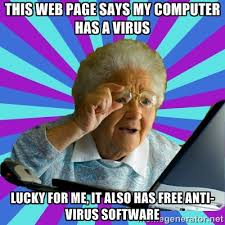 this web page says my computer has a virus lucky for me, it also ... via Relatably.com