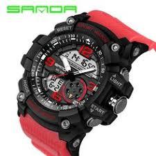 <b>Men Military Watch 50m</b> Waterproof Wristwatch LED Quartz Clock ...