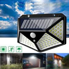 Arilux® <b>100 led solar</b> powered pir motion sensor wall light outdoor ...