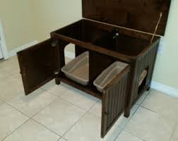 side by side custom litter box cabinet opened animal stuff pinterest litter box boxes and cat litter boxes cat litter box covers furniture