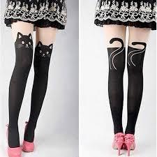 Super Sexy Cat <b>Printing Stocking</b> Pantyhose Tights Black ...