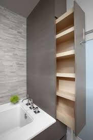 bathroom space savers bathtub storage: space saving bathroom storage could be used in the privacy wall or the wall
