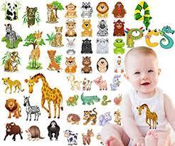 Kids Iron on Transfers Patches Set - 4 Sheets Animals ... - Amazon.com