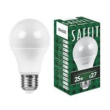 <b>Лампа</b> светодиодная <b>SAFFIT</b> SBA6525 Шар <b>E27</b> 25W 4000K 55088