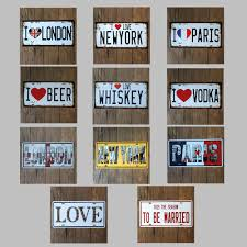 home decor plate x: metal tin signs letters vehicle car signs metal plaque painting home decor plates wall art craft