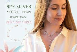 <b>ASHIQI</b> White <b>Natural</b> Freshwater Baroque Pearl Bracelets For ...