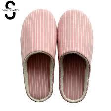 senza fretta new men slippers indoor lover women cotton home mute soft bottom floor women men shoes