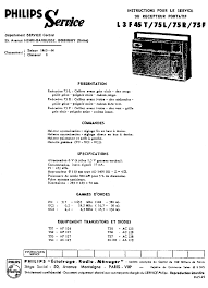PHILIPS L3F45T SERIE PORTABLE RADIO 1965 SM Service Manual free download, schematics, eeprom, repair info for electronics - philips_l3f45t_serie_portable_radio_1965_sm.pdf_1