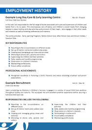example of a resume child care professional resume cover letter example of a resume child care child care assistant resume example best sample resume we can