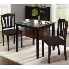 three piece dining set:  metropolitan  piece dining set multiple finishes