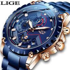 LIGE <b>Men Watch Fashion</b> Quartz <b>Watch Mens</b> Top Brand Luxury All ...