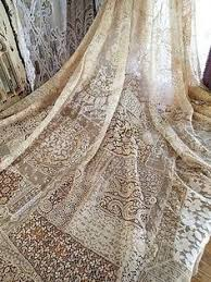 Vintage Lace | <b>Off White</b> Lace Fabric, Retro Embroidered Lace ...