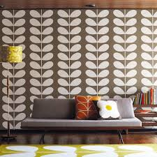 living room orla kiely multi:  orla kiely wallpaper giant stem navy