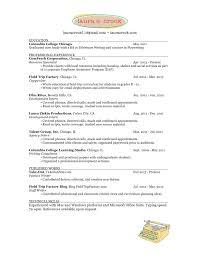 resume laura e crook resume