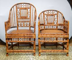 superb set of four bamboo vintage chinese chippendale chairs and two armchairs 2 chinese bamboo furniture