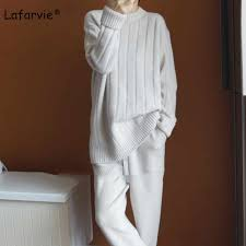 <b>Lafarvie</b> Cashmere Blended Knitted Sweater Women Autumn Winter ...