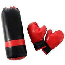 Детский боксерский мешок-<b>груша</b> с перчатками Midzumi 1 кг