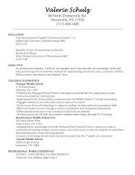entry level teacher resumes template entry level teacher resumes