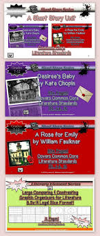 best images about the short story scarlet short story unit study desiree s baby a rose for emily common core