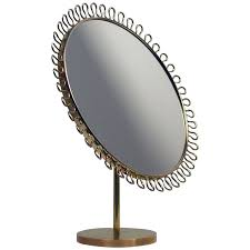table mirror: mid century sculptural brass vanity table mirror in the manner of josef frank at stdibs