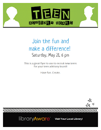 this is a great flyer to use to recruit new teens for your teen this is a great flyer to use to recruit new teens for your teen advisory board