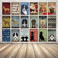 [ Kelly66 ] Dog Siberian Poodle Bernese <b>Metal Sign Tin</b> Poster ...