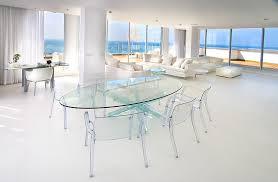 chair dining tables room contemporary: lucite dining table dining room contemporary with clear chairs clear dining