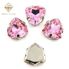 Online Shop Free shipping <b>12mm Fat Triangle</b> shape pink High ...