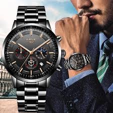 Fashion <b>Mens Watches</b> LIGE <b>Top Brand</b> Waterproof Sport <b>Watch</b> ...