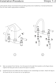 country kitchen column spout: turn the spout to the right front position as the figure shows