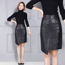 Aliexpress.com : Buy Women <b>Sheepskin Leather Skirt</b> K84 from ...