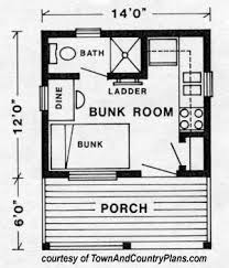 Small Cabin House Plans   Small Cabin Floor Plans   Small Cabin    small cabin house plan by TownAndCountry com