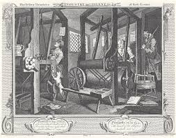 industry and idleness plate 1 the fellow prentices at their looms edit