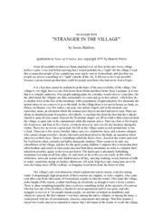 stranger in the village essay  custom paper academic writing service stranger in the village essay stranger in the village essay