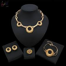 2019 <b>Yulaili</b> New Arrival <b>Dubai Gold Color</b> Jewelry Set Arabic ...