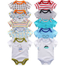 <b>5Pcs</b> High Quality <b>infant</b> Jumpsuit <b>Baby</b> clothes <b>Short sleeves</b> Boys ...