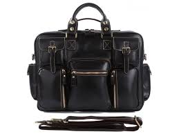 TucciPolo 7028A <b>Genuine Cow Leather Men's</b> Briefcase Laptop Bag