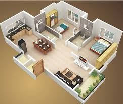 ideas about Bedroom House Plans on Pinterest   House plans     D Small House Plans sq ft Bedroom and Terrace  smallhouseplans   dhouseplans