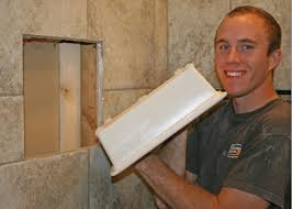 mirror shelf attached x recessed soap shampoo niche page  tiling contractor talk