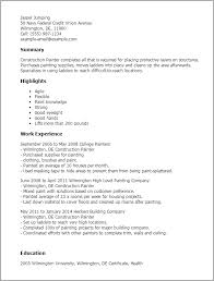 construction worker resume example to get you noticed    resume templates construction painter