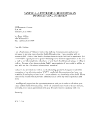 sample networking or informational interview letter letter cover letter templates informational interview letter sample