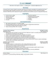 Customer Service Advisor Resume Sample My Perfect Resume