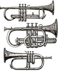 Image result for row of trumpets