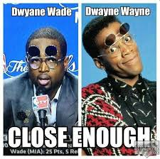 Dwayne Wade Close Up Meme via Relatably.com