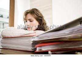 woman sleeping in office stock image business nap office relieve