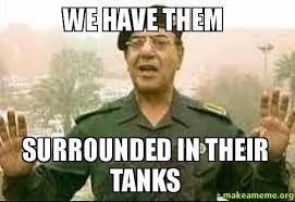 Image result for baghdad bob tanks in background