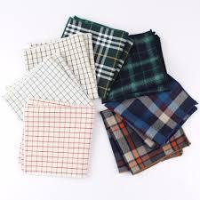 Dark Colorful Cotton <b>Handkerchiefs</b> Woven <b>Printing Plaid Pocket</b> ...